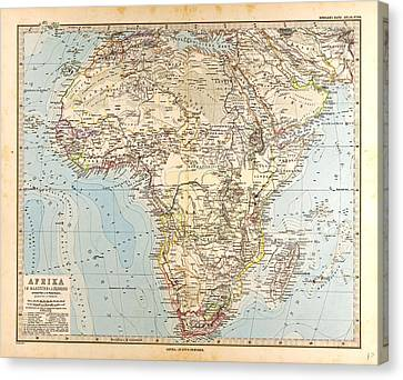 Africa  Map Gotha Justus Perthes 1872 Atlas Canvas Print by English School