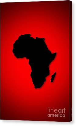 Canvas Print featuring the digital art Africa  by Mohamed Elkhamisy