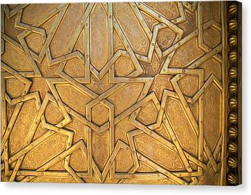 Africa, Morocco, Fes, Fes Medina, Brass Canvas Print