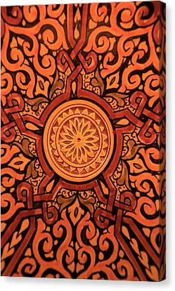 Africa, Morocco Hand-painted Glazed Canvas Print by Kymri Wilt