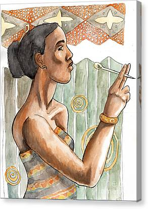 Africa Nouveau Canvas Print