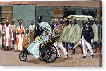 Africa Sierra Leone Bride Of The High Canvas Print by Prisma Archivo