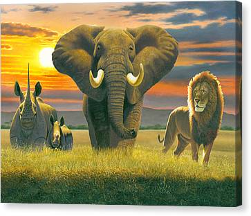 Africa Triptych Variant Canvas Print by Chris Heitt