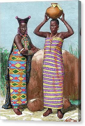 Africa Women Of Zanzibar Engraved Canvas Print