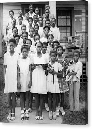 African American Children Canvas Print by Underwood Archives