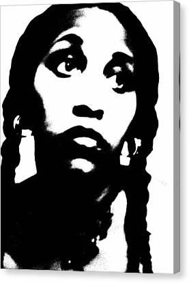 Canvas Print featuring the photograph African American Girl P7292079 by Cleaster Cotton