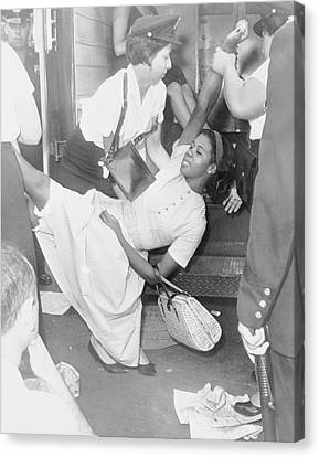 African American Woman Being Carried Canvas Print by Stocktrek Images