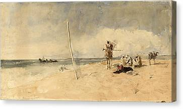 African Beach Canvas Print