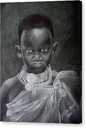 African Boy Canvas Print