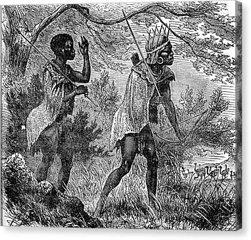 African Bushmen Canvas Print by Collection Abecasis