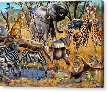 African Collage Canvas Print