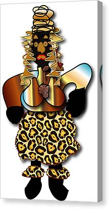 Canvas Print featuring the digital art African Dancer 2 by Marvin Blaine