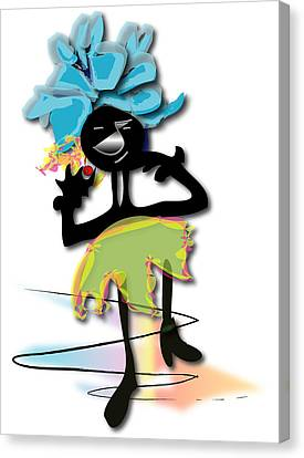 Canvas Print featuring the digital art African Dancer 3 by Marvin Blaine