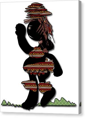 Canvas Print featuring the digital art African Dancer 7 by Marvin Blaine