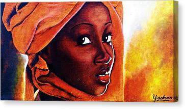 African Fire Canvas Print