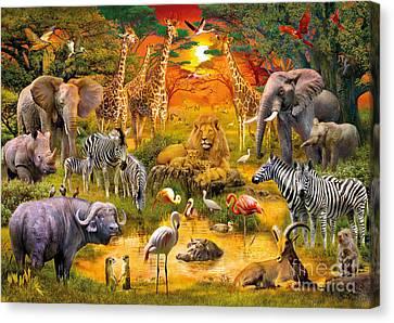 African Harmony Canvas Print by Jan Patrik Krasny
