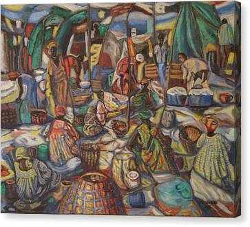 African Market Canvas Print
