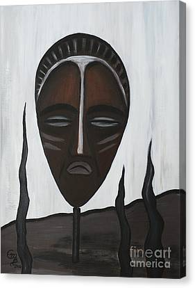 African Mask II Canvas Print by Eva-Maria Becker