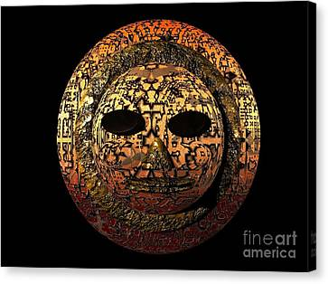 African Mask Series 1 Canvas Print by Jacqueline Lloyd