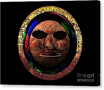 African Mask Series 2 Canvas Print by Jacqueline Lloyd