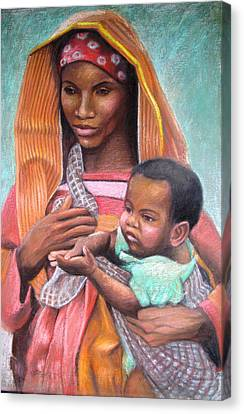 African Mother Canvas Print