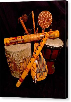 African Musical Instruments Canvas Print