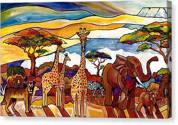 African Serengeti - L Canvas Print by Everett Spruill