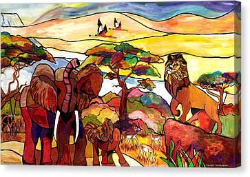 African Serengeti - R Canvas Print by Everett Spruill