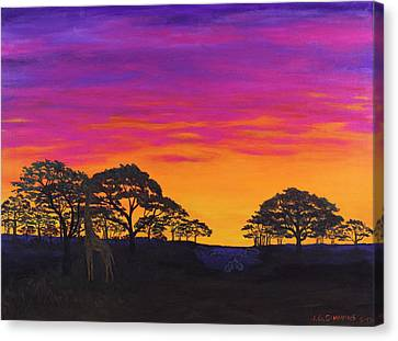 Canvas Print featuring the painting African Sky by Janet Greer Sammons