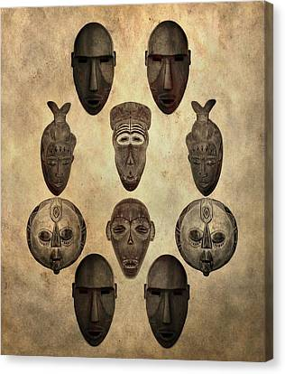 African Tribal Masks Canvas Print by Dan Sproul
