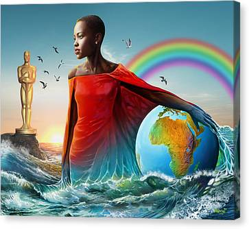 The Lupita Tsunami Canvas Print