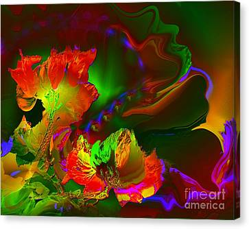 African Tulips Canvas Print by Doris Wood