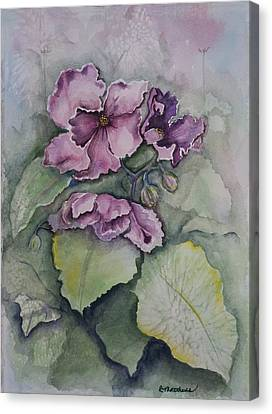 African Violets Canvas Print by Rebecca Matthews