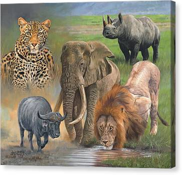 Africa's Big Five Canvas Print by David Stribbling