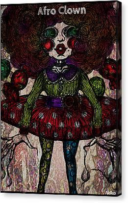 Afro Clown Canvas Print by Akiko Okabe