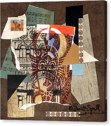 Afro Collage B Canvas Print by Everett Spruill