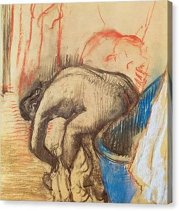 After Bath Canvas Print by Edgar Degas