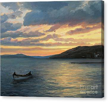 After Fishing Canvas Print by Kiril Stanchev