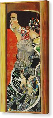 After Gustav Klimt Canvas Print by Sylvia Kula