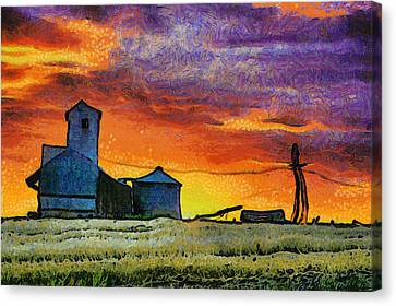 After Harvest - Digital Painting Canvas Print by Mark Kiver