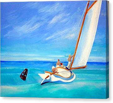 After Hopper- Sailing Canvas Print