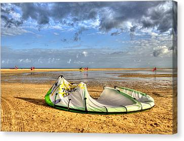 Canvas Print featuring the photograph After Kiteboarding Session by Julis Simo