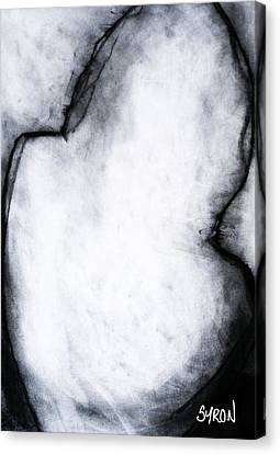 Canvas Print featuring the drawing After Life Drawing 2 by Helen Syron