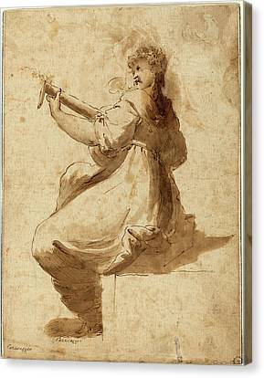 After Orazio Gentileschi, The Lute Player Canvas Print by Litz Collection