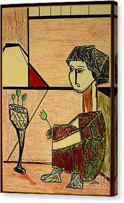 Canvas Print featuring the pastel after Picasso by Bill OConnor