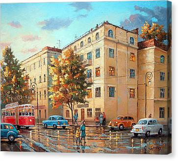 Canvas Print featuring the painting After Rain by Dmitry Spiros