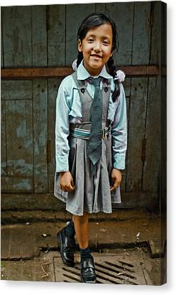 After School Pose Canvas Print