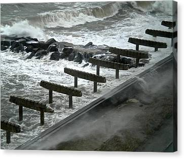 Canvas Print featuring the photograph After Storm Sandy by Joan Reese