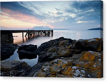 After Sun At Portencross Canvas Print by Stephen Taylor