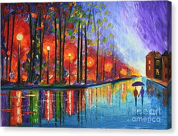 After Sunset Canvas Print by Mariana Stauffer